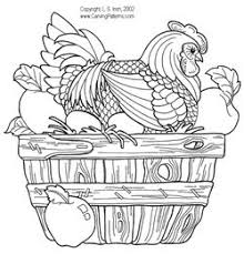 wood burning patterns free hens and roosters pattern package
