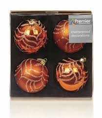 Ebay Christmas Trees Uk by Christmas Xmas Copper Rose Gold Baubles Hearts Shatterproof Tree
