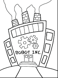 Robot Coloring Pages Online Printable Page To Print For Preschoolers Full Size