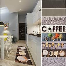 küchenläufer kaffee läufer modern waschbar teppichläufer