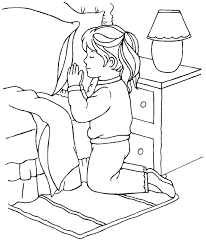 Prayer Coloring Page Girl Sermons4kids Praying