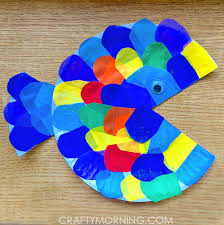 Paper Plate Tissue Fish Craft Crafty Morning