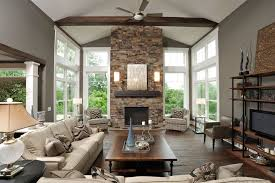 Gorgeous Monte Carlo Ceiling Fans In Living Room Contemporary With Taupe Paint Next To Freestanding Fireplace Alongside