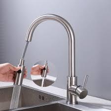 hochdruck wasserhahn küche ausziehbar küchenarmatur mit brause zwei wasserstrahlarten einhebel spültischarmatur 360 schwenkbar mischbatterie küche