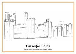 Caenarfon Castle Colouring Page