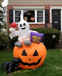 Halloween Yard Inflatables by Halloween Help Aging Parents