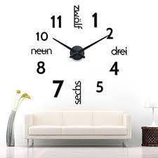 3d schwarze riesen designer wanduhr wohnzimmer