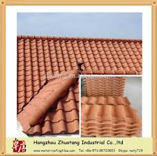 metal tile looks like clay roof tile with clay tile color and