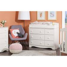 South Shore 6 Drawer Dresser White by South Shore Angel 6 Drawer Changing Table Dresser In Pure White