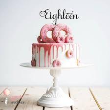 achtzehn 18 geburtstag kuchen deckel 1 achtzehn cake topper gold kuchendeckel