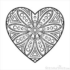 Heart Shape Coloring Page