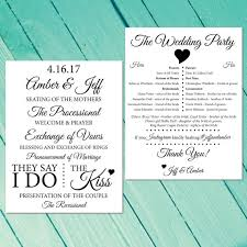 Wedding Program Black And White Paper Fan For