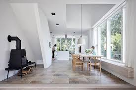 modernes satteldachhaus mit backsteinfassade schöner wohnen