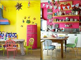 Cute Colorful Kitchen Design Ideas Charming Wall