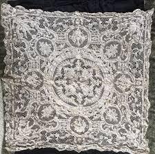 Battenburg Lace Curtains Ecru by Beautiful Antique Ecru Lace Floral Point De Venise 50
