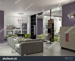 100 Interior Design For Small Flat 3 D Bright Stock Illustration 222942205