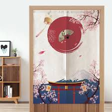 japanische kirsche tür vorhang partition vorhang küche schlafzimmer halb vorhang noren eingang feng shui tür vorhang
