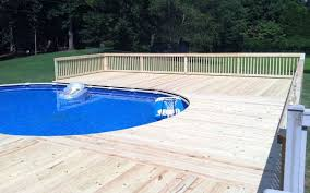 Above Ground Pool Ladder Deck Attachment by Building A Deck For An Above Ground Pool What You Need To Know