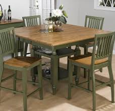 5 Piece Counter Height Dining Room Sets by Jofran Vintage Green 5 Piece Rectangle Counter Height Set Flap