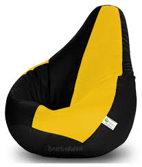 Bean Bag-xxl Black&yellow-filled(with Beans)   Elala Jumbo Bean Bag Chair New Fy Bags Size Pre Filled Hayzi With Beans Blue Black Spacex How To Fill Beans In Bean Bag Youtube Top 10 Best Chairs Recommended By Experts Refill Foam Cushions Filling Filler Sack Lounge Taylor Le Pouf Large Fill Big W For Small Polystyrene Beads The Of 2019 Your Digs Dolphins With Ela Comfy Printed Kids Polyfil Biggie Joann