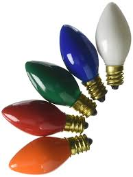 Colored Bulbs For Ceramic Christmas Tree by Amazon Com C7 Ceramic Multi Color 5 Watt Candelabra Base