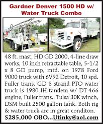 GARDNER DENVER 1500 HD W/ WATER TRUCK COMBO 2005 Mack Chn613 Truck Tractor Auctions Online Proxibid How To Get Unstuck 7 Strategies For Living A Fuller Life 1984 Intertional Truck Model 1854 Dt466 Eaton 6speed Gardner Denver 1500 Hd W Water Combo Otc 70a Transmission Bearing Service Set Trucks Oil Promises Nh It Will Catch Up On Fuel Deliveries Lowell Inexterior Reworks Megapack 121 Ats Mods American Truck Dump Rolls Over In Hancock Monday Afternoon The Ellsworth Accsories Rebuilt Tramissions Whosale Drivetrain Co Midrange