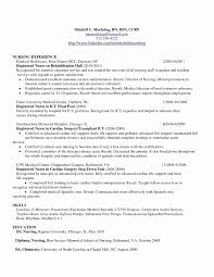 Sample Human Resources Resume Unique Rn Bsn Awesome Nurse Information