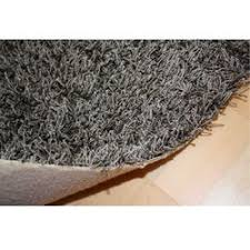 hochflor auslegware shaggy teppichcapri in grau hochflor