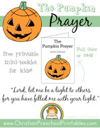 Pumpkin Patch Parable Craft by Free Pumpkin Prayer Printables Minis Sunday And Books