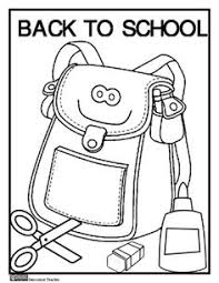 Back To School Coloring Page FREEBIE From Innovative Teacher On TeachersNotebook