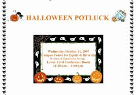 Halloween Potluck Invitation Templates by 100 Free Halloween Potluck Sign Up Sheet Templates
