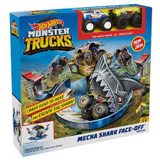 100 Hot Wheels Monster Truck Toys S Mecha Shark Face Off Playset