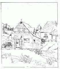 Cabin Coloring Page Printable
