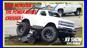 100 Mini Monster Trucks Truck Crushing The Power Wheel Ride On Toy Jeep YouTube