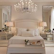 Luxury Bedroom Furniture Mirrored Night Stands White Headboard Wall Paper Seat At Foot Of Bed