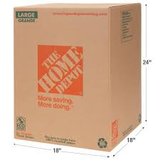 The Home Depot 18 in L x 18 in W x 24 in D Moving Box