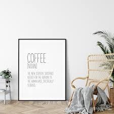 kaffee lustig definition aufdruck bedruckbar wandkunst