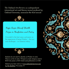 20182019 Hajja Razia Sharif Sheikh Prizes In Nonfiction And Poetry