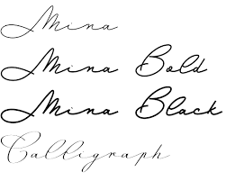 Mina Font Family By Resistenza The Elegance Of Natural Calligraphy