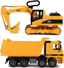 100 Kids Dump Truck Toy To Enjoy Excavator Toy For Set Of 2 Moveable Claw Lifting Back Garbage Bulldozer Digger Construction Vehicle