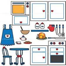 European And American Kitchen Cooking Clip Art Free Vector 1