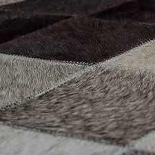 teppich wohnzimmer leder wolle grau schwarz mirai trading gmbh