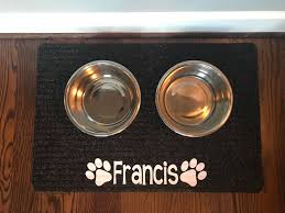 Personalized Pet Mat Dog Food Mat Cat Food Mat Pet Mat