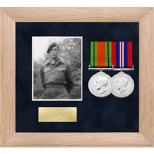 Photo Medal Display Frame For Up To 2 Medals
