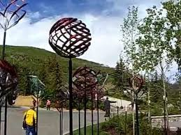 kinetic wind sculptures vail colorado youtube