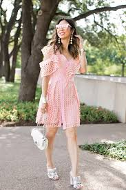 style of sam self portrait lace frill mini pink dress dupe
