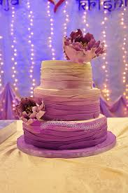 Purple Ombre Fondant Wedding Cake By Bihaliciouscakes
