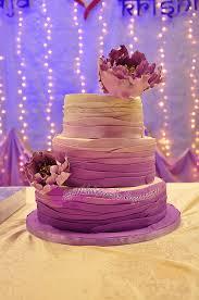 Purple Ombre Fondant Wedding Cake By Bihaliciouscakes