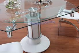 Dining Room Chairs For Glass Table by Extendable Dining Room Tables Expanding Dining Room Table