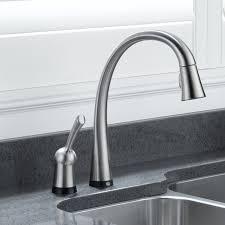 Delta Linden Kitchen Faucet by Ceramic No Touch Kitchen Faucet Centerset Single Handle Side